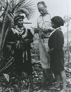 Ethnobotanist, Richard Evans Schultes, at work in the Amazon (~1940s).